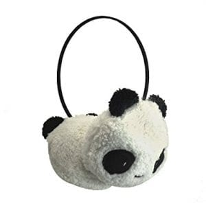 1-X-Gilrs-Black-White-Small-Panda-Design-Pad-Fluffy-Ear-Warmer-Earmuffs-0
