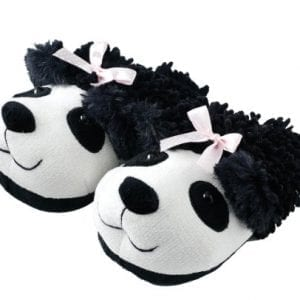Animal-World-Panda-Fuzzy-Friends-Unisex-Adult-Size-Slippers-Large-Black-0