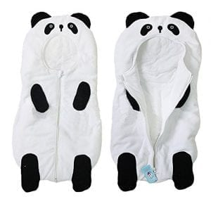 Baby-Cute-Sleeping-Bag-Sack-Romper-Fleece-Panda-Sleepwear-Swaddle-Unisex-Bodysuit-0