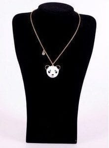 Classic-Fashion-Lovely-Panda-Necklace-Puck-Rock-Necklace-0