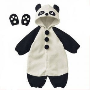 Cute-Baby-Bodysuit-Infant-Onesies-Toddlers-Romper-Panda-WhiteBlack-For-Creeping-0
