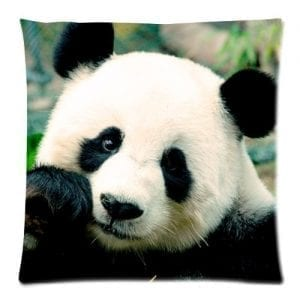 Cute-Panda-Bear-Funny-Animal-Cushion-Case-Pillow-Case-Zippered-Pillowcase-Pillow-Cover-Square-18-X-18-Inch-Twin-Sides-0