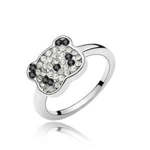 Dreamslink-Fashion-Swarovski-Elements-Austrian-Crystal-Cute-Panda-With-CZ-Crystal-Ring-0