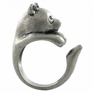 Enhanced-Panda-Bear-Adjustable-Animal-Wrap-Ring-Vintage-Silver-Tone-0