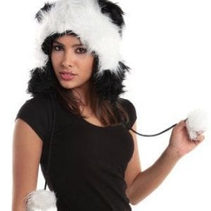 Fur-Animal-Hats-Hoods-Fur-Panda-with-Poms-0