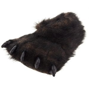 Fuzzy-Black-Bear-Paw-Slippers-for-Men-and-Women-0