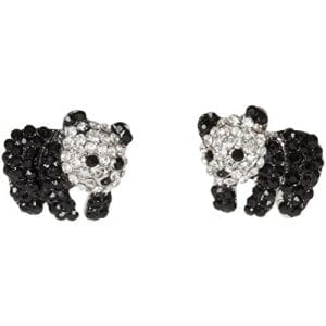 Heirloom-Finds-Adorable-Black-White-Baby-Panda-Bear-Earrings-with-Crystal-0