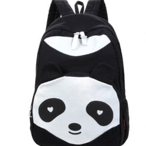 Leegoal-Lovely-child-girl-boy-student-cute-Panda-Canvas-School-Book-Campus-Bag-Backpack-Black-0