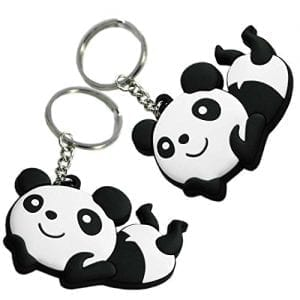 Set-of-2-Lovely-Panda-Superstore-Key-Chain-Portable-Car-Keychain-Key-Rings-0