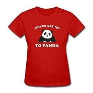 Spreadshirt-Womens-Never-Say-No-To-Panda-T-Shirt-red-XL-0