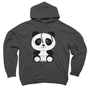 The-Panda-Mens-2X-Large-Charcoal-Graphic-Pullover-Hoodie-Design-By-Humans-0