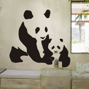 Animal-Chinese-Pandas-Wall-Decal-Sticker-Living-Room-Stickers-Vinyl-Removable-Black-Color-Wide-60cm-High-60cm-0