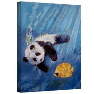 Art-Wall-Panda-Diver-Gallery-Wrapped-Canvas-Art-by-Michael-Creese-18-by-14-Inch-0