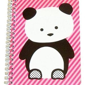 Carolina-Pad-Studio-C-College-Ruled-the-Hair-of-the-Dog-Spiral-Notebook-Panda-on-Pink-Stripes-85-x-105-80-Sheets-160-Pages-0