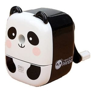 Chinese-Cute-Panda-Hand-Rotating-Pencil-Sharpener-For-Office-Classroom-WHITE-0