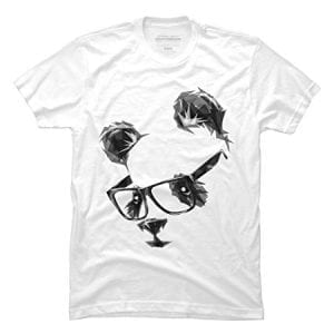 cool panda mens medium white graphic t shirt design by humans 0