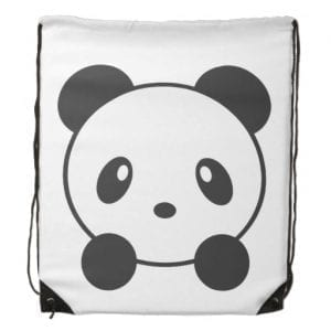 Giant Panda Fact Drawstring Backpack