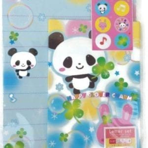 Happy-Clover-Charm-Japanese-Panda-Writing-Stationery-Set-0