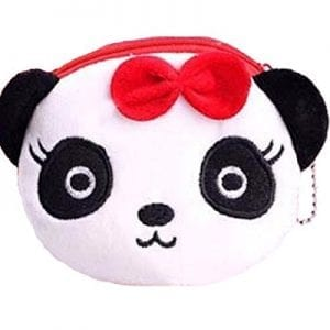Kids-Zoo-Cartoon-Novelty-Plush-Zipper-Coin-Purse-Mini-Wallet-with-Keychain-Various-Themes-Available-Ships-from-US-Panda-0