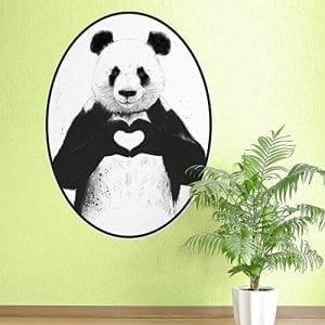 My-Wonderful-Walls-Love-Panda-Oval-Wall-Sticker-Decal-by-Balzs-Solti-Small-BlackWhiteGreen-0