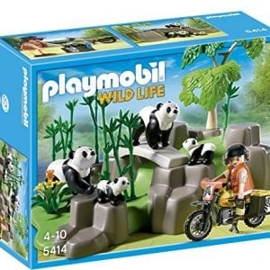 PLAYMOBIL-Pandas-in-Bamboo-Forest-Set-0