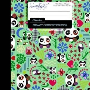 Primary-Composition-Book-Kids-School-Exercise-Book-with-Pandas-Butterflies-Owls-Times-Tables-Wide-Ruled-Large-Notebook-Color-Perfect-Bound-Primary-Composition-Books-Kids-n-Teens-0
