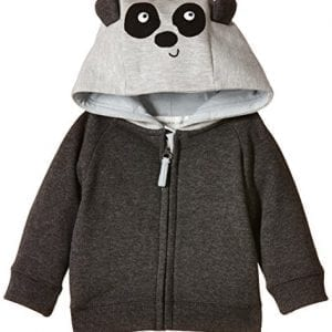 Pumpkin-Patch-Baby-Boys-Panda-Zip-Up-Long-Sleeve-Hoodie-Licorice-6-12-Months-0