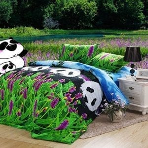 SAYM-Home-Bedding-Sets-European-Style-American-Fashion-Panda-Flower-3d-Print-Bedding-Set-Bedclothes-Duvet-Cover-Bedspread-and-Pillow-Case-Queen-Size-4pc-0