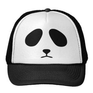 Sad Panda Face Trucker Hat