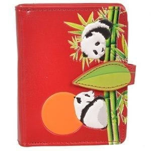 Shagwear-Womens-Small-Zipper-Wallet-Playing-Pandas-Red-0