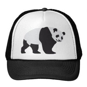 Walking Adult Panda Trucker Hat