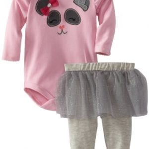 Watch-Me-Grow-by-Sesame-Street-Baby-girls-Newborn-2-Piece-Face-Bow-Creeper-and-Pant-Blush-Bride-Pink-3-6-Months-0