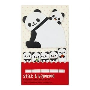 Wrapables-Bookmark-and-Memo-Sticky-Notes-Panda-and-Cubs-0