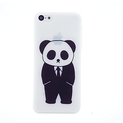 CaseBee-Panda-Gentleman-in-Suit-Print-iPhone-5C-Case-Perfect-Gift-Package-includes-Screen-Protector-0
