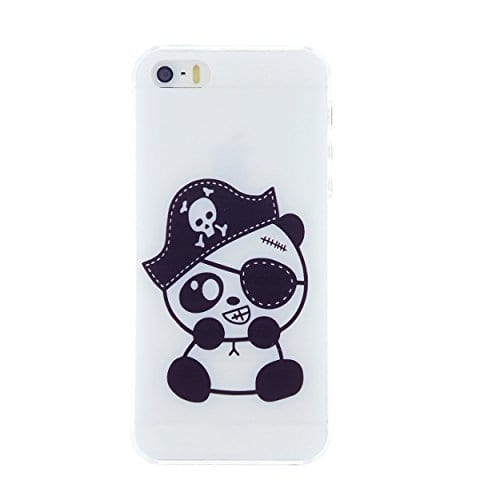 CaseBee-Pirate-Panda-with-Eye-patch-Print-iPhone-5S-Case-Perfect-Gift-Package-includes-Screen-Protector-0