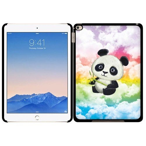 Fincibo-TM-Apple-iPad-Air-2-Back-Cover-Slim-Fit-Hard-Plastic-Protector-Case-Baby-Panda-Style-2-0