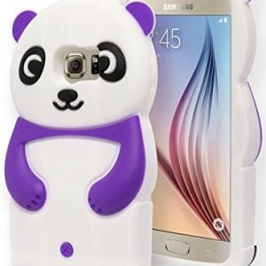 For-Samsung-Galaxy-S6-Cute-Purple-and-White-Silicone-Panda-Character-Case-0