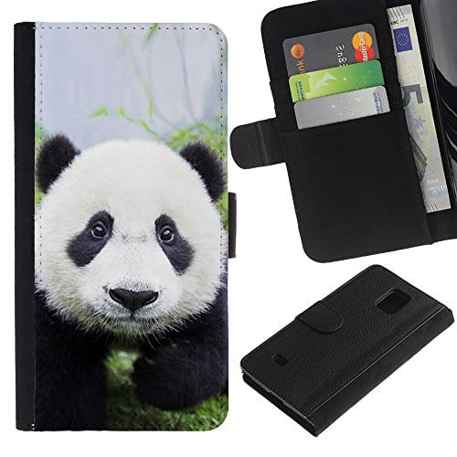 Graphic4You-Cute-Panda-Animal-Design-Wallet-Leather-Case-Cover-for-Samsung-Galaxy-S5-Mini-0