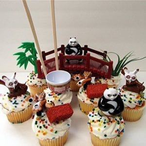 KUNG-FU-PANDA-12-Piece-Birthday-CUPCAKE-Topper-Set-Featuring-Po-Tigress-and-Master-Shifu-Themed-Decorative-Accessories-Figures-Average-15-0