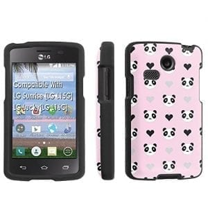 LG-Sunrise-LG-L15G-LG-LuckyLG-L16C-Case-SkinGuardz-Black-Form-Fit-Fancy-Protection-Case-Panda-Pink-Print-Design-0