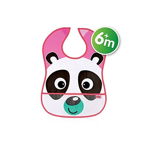 Nuby-4278-Catch-All-Bib-Baby-Led-Feeding-6m-Panda-0