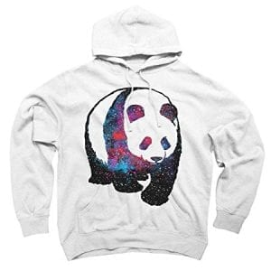 Panda-Space-Mens-Medium-White-Graphic-Pullover-Hoodie-Design-By-Humans-0