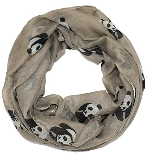 Ted-and-Jack-Save-The-Panda-Whimsical-Print-Infinity-Scarf-In-Beige-0