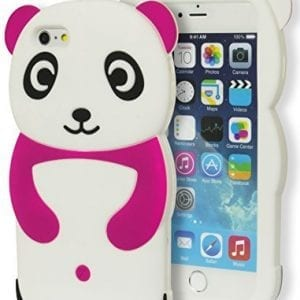 iPhone-6-Plus-Case-Bastex-3D-Soft-Silicone-Protective-Pink-and-White-Happy-Panda-Design-Case-Cover-for-Apple-iPhone-6-55-Plus-0