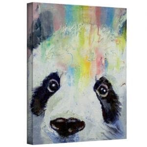 Art-Wall-Panda-Rainbow-Gallery-Wrapped-Canvas-Art-by-Michael-Creese-18-by-14-Inch-0
