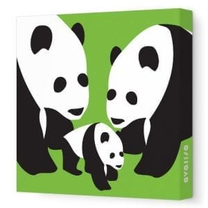 Avalisa-Stretched-Canvas-Nursery-Wall-Art-Panda-Green-28-x-28-0