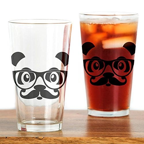 CafePress-nerd-panda-with-moustache-and-glasses-Drinking-Gla-Drinking-Glass-0