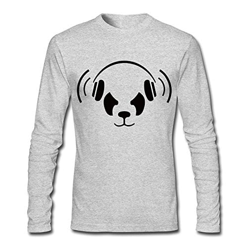 Cool-Nerd-Panda-Long-Sleeve-T-shirt-For-Man-HeatherGray-Medium-0