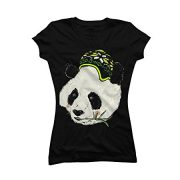 Cool-Panda-Womens-X-Large-Black-Graphic-T-Shirt-Design-By-Humans-0