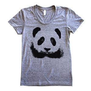 GarageProject101-Womens-Panda-Face-T-Shirt-S-Athletic-Grey-0